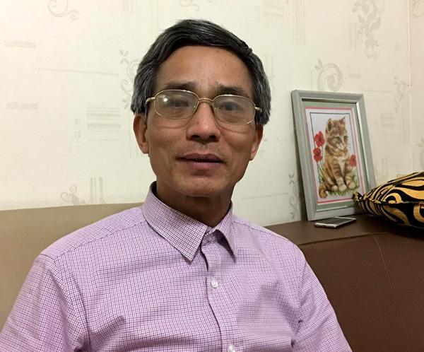 PGS.TS Nguyễn Minh Đức rất vui khi đã khỏi bệnh viêm loét dạ dày, đại tràng mà ông mắc phải suốt 25 năm qua