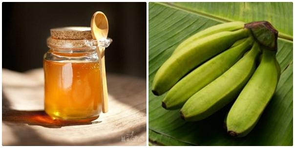 Chữa khỏi bệnh đau dạ dày đơn giản chỉ bằng chuối xanh và mật ong