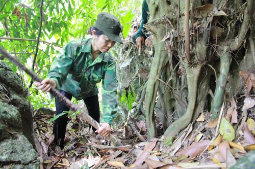 Chị Minh trực tiếp đào thuốc